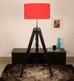 Red Silk Floor Tripod Lamp
