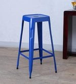 Cohen Metal Bar Stool in Blue Colour