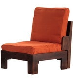 Columbia Accent Chair in Warm Rich Finish