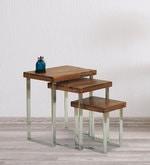 Corado Set of Tables in Light Walnut Finish