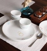 Livingware Circle Vitrelle Glass Dinner Set - Set of 8