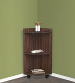 Corner Shelf with Stand in Brown Finish