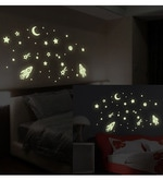 Night Star Radium Theme Vinyl Wall Sticker