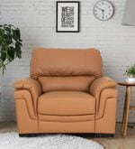 Cosy One Seater Sofa in Coffee Brown Colour