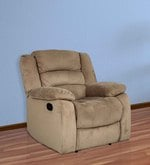 Cove One Seater Manual Recliner in Mocha Finish