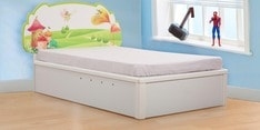 Comic Single Bed with Hydraulic Storage
