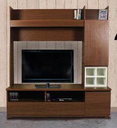 Colette Entertainment Unit In Americano White Finish By Peachtree