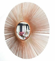 Copper Glass And Metal Martel Wall Mirror