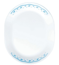 Corelle Livingware Morning Blue Oval Serving Tray