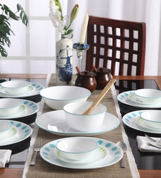 Corelle Livingware South Beach Vitrelle Glass Dinner Set - Set of 21 at pepperfry