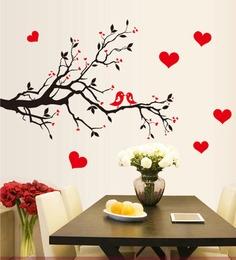 ... Pvc Vinyl Love Bird Romantic Theme Wall Sticker By Cortina ...