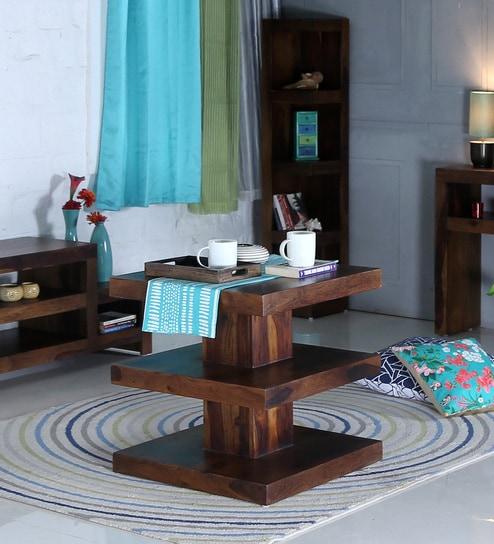 buy acropolis solid wood coffee table in provincial teak finish