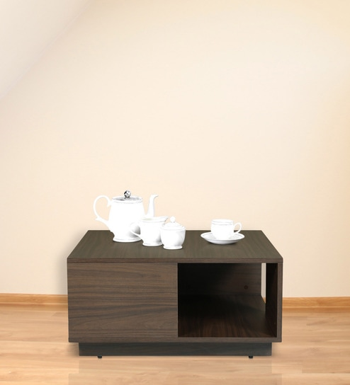 best buy coffee table in brown colour by arancia mobel online modern coffee tables coffee tables furniture pepperfry product with online mobel