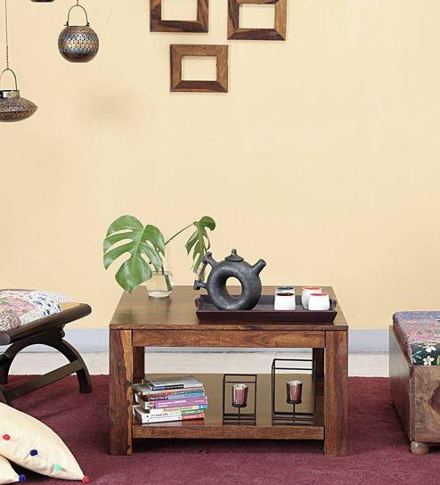 Oriel Coffee Table in Provincial Teak Finish by Woodsworth