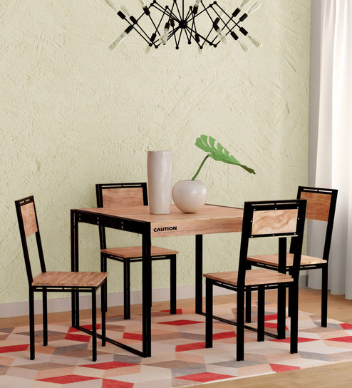 Coleman Solid Wood Four Seater Dining Set By Bohemiana
