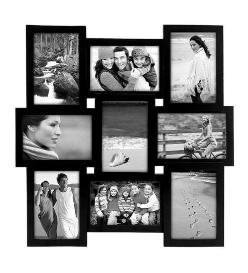 Buy Black Synthetic Wood 4 X 6 Inch Photo Frame Collage By Snap