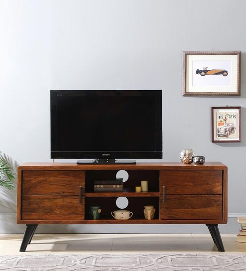Buy Colmar TV Unit in Walnut Finish by The ArmChair Online ...