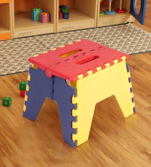 Fantastic Kids Plastic Folding Stool In Multicolor By Ventura Caraccident5 Cool Chair Designs And Ideas Caraccident5Info