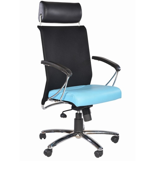 Buy Columbia High Back Light Blue Office Chair In Light Blue Colour