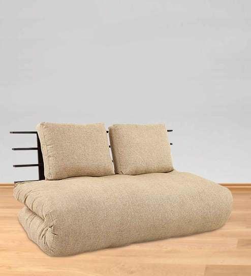 Comfortable Futon With Beige Mattress By ARRA