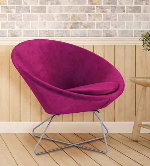 Buy Modern Comfortable Konic Tub Lounge Accent Chair In Purple By