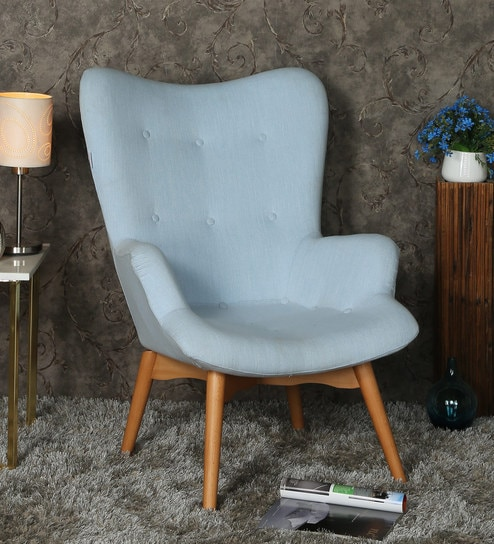 Magnificent Contour Wing Chair In Aqua Colour By Minthomez Caraccident5 Cool Chair Designs And Ideas Caraccident5Info