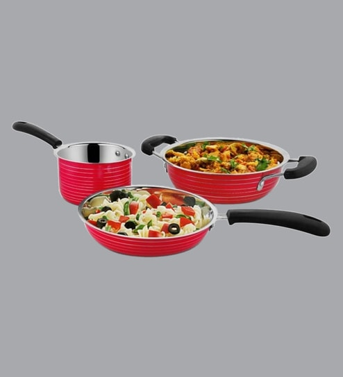 Stainless Steel Cookware- Set of 3