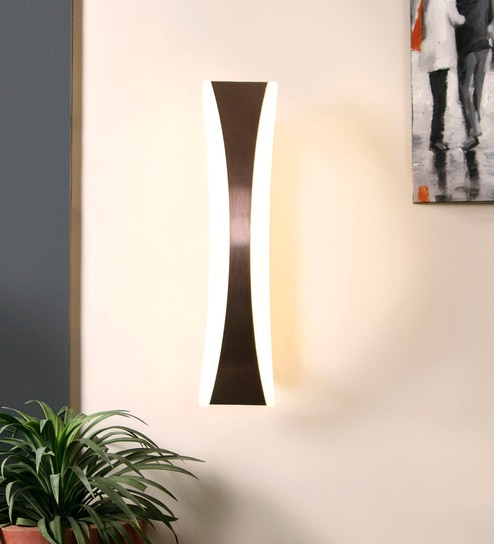 Copper Metal & Glass Wall Mounted Light by Jainsons Emporio