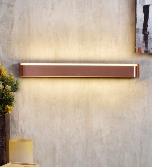 Copper Metal and Acrylic Wall Light by Jainsons Emporio