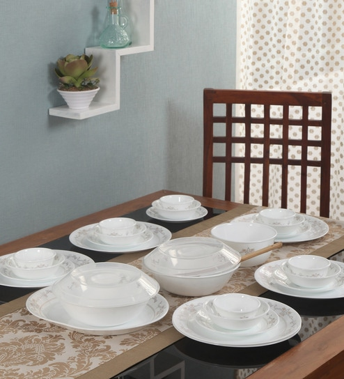 Asia Collection Imperial Vitrelle Glass Dinner Set - Set of 30 by Corelle & Buy Asia Collection Imperial Vitrelle Glass Dinner Set - Set of 30 ...