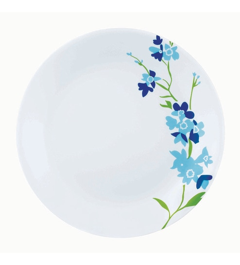 Corelle India Collection Blue Blossom Vitrelle Glass Dinner Plates - Set of 6  sc 1 st  Pepperfry : dinner plates india - Pezcame.Com