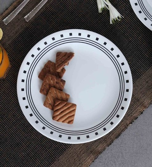 Corelle India Impressions City Block Dinner Plates - Set of 6 : dinner plates india - Pezcame.Com