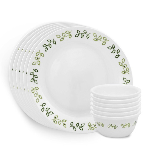 Corelle India Impressions Dinner Set - 12 Pcs - 6 Dinner Plates and 6 Bowls  sc 1 st  Pepperfry & Corelle India Impressions Dinner Set - 12 Pcs - 6 Dinner Plates and ...