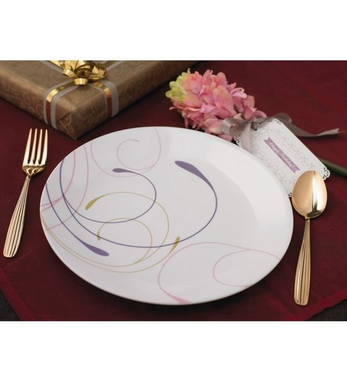 glass dinner plates online india. corelle india impressions violet vitrelle glass dinner plates - set of 6 online