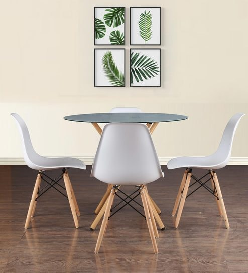 Admirable Corona 4 Seater Dining Set In White Finish By Hometown Gmtry Best Dining Table And Chair Ideas Images Gmtryco