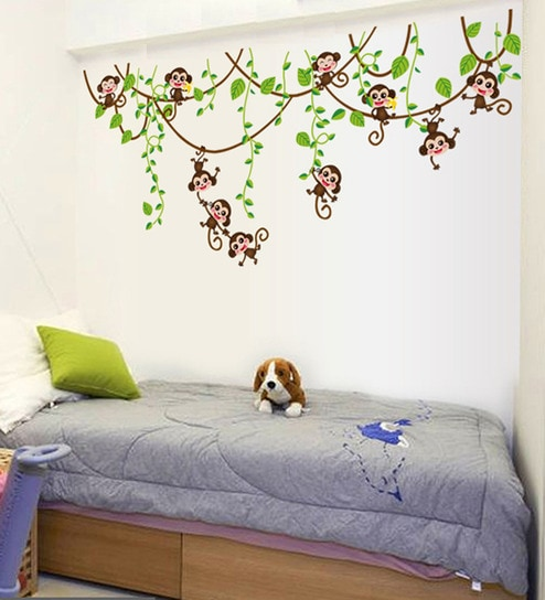 PVC Vinyl Monkey Theme Wall Sticker By Cortina