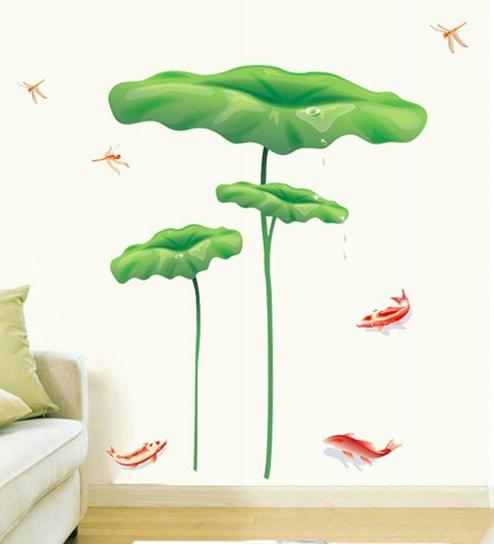 buy cortina pvc vinyl nature scene theme wall sticker online