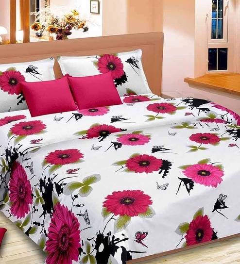 Premium Pink Satin Queen Size Bed Sheet   Set Of 3 By Cortina