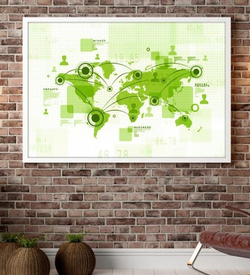 Buy cotton canvas 60 x 15 x 48 inch world map framed digital art cotton canvas 60 x 15 x 48 inch world map framed digital art print by cotton canvas gumiabroncs Choice Image