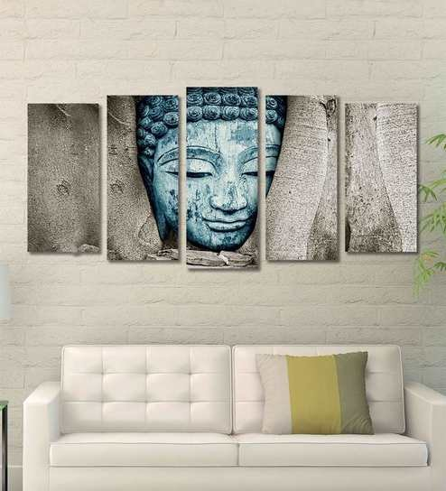 Buy Cotton Canvas 78.7 x 1 x 39.8 Inch Buddha Framed Art Panels by ...