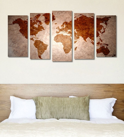 Buy cotton canvas 787 x 1 x 398 inch red blank world map framed cotton canvas 787 x 1 x 398 inch red blank world map framed art panels by 999store set of 5 gumiabroncs