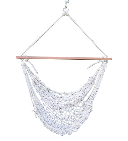 Hang It Cotton Rope Swing Chair In Natural