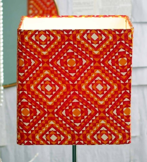 Buy phulkari multicolour fabric lamp shade by courtyard online multicolour fabric lamp shade by courtyard aloadofball Images