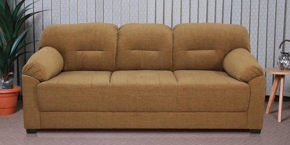 Buy Colton Three Seater Sofa In Coffee Brown Colour By