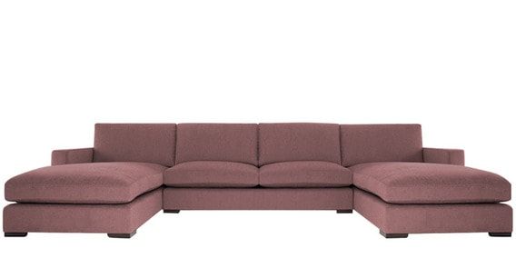 Contemporary Three Piece Sleek Sectional Sofa With Top Sch In Purple Colour By Afydecor