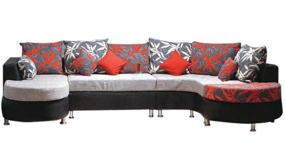 Buy Cosmic Rh Sofa Set In Grey By Hometown Online Right Hand Side