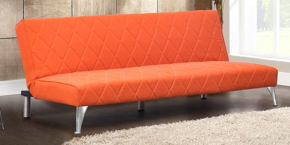 Cozy Sofa Bed In Orange Colour By Peachtree
