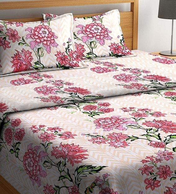 Fl Pattern Cotton 4 Pieces King, King Size Bedding Set