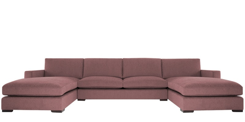 Buy Contemporary Three Piece Sleek Sectional Sofa with Top Stitch in