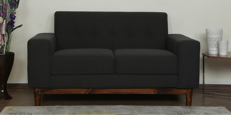 Cordoba Two Seater Sofa in Charcoal Grey Colour by CasaCraft